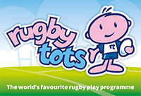 Rugbytots Blackburn and Darwen's logo
