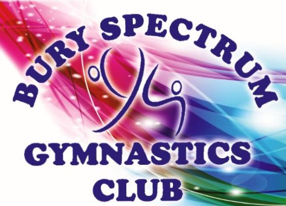 Bury Spectrum Gymnastics Club's logo