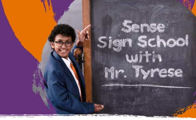 Sense Sign School - British Sign Language lessons with Tyrese's logo