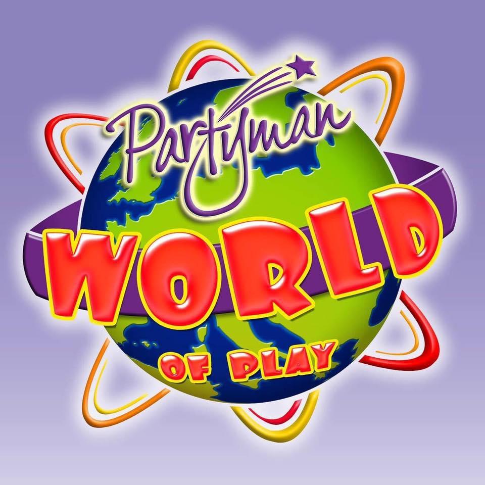 Partyman World Of Play's logo
