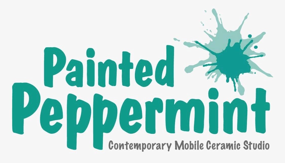 Painted Peppermint South West and South Central Suffolk Contemporary Ceramics Mobile Studio's logo