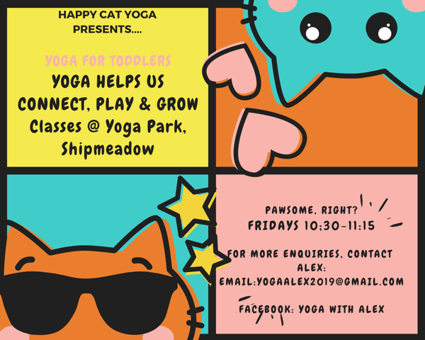 Happy Cat Parent/Carer and Toddler Yoga's logo