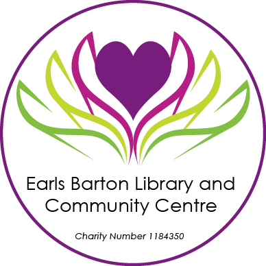 Earls Barton Library's logo