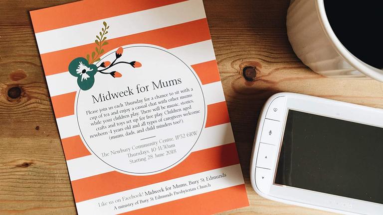 Midweek for Mums's logo