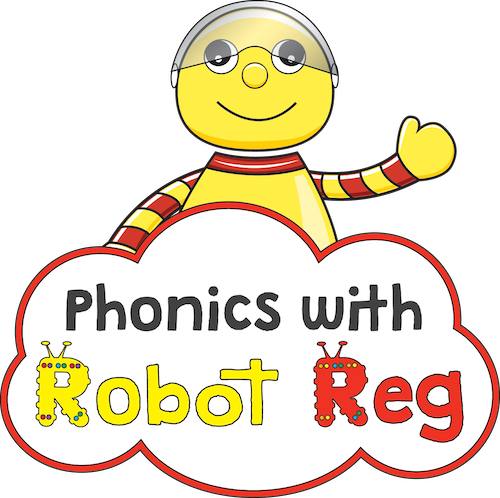 Phonics with Robot Reg Stroud and Cirencester's logo