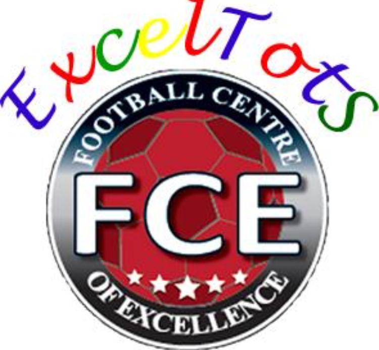 FCE&Exceltots football club and academy 's logo