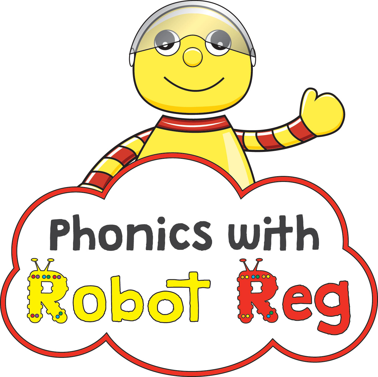 Phonics with Robot Reg Stroud and Cirencester 's logo