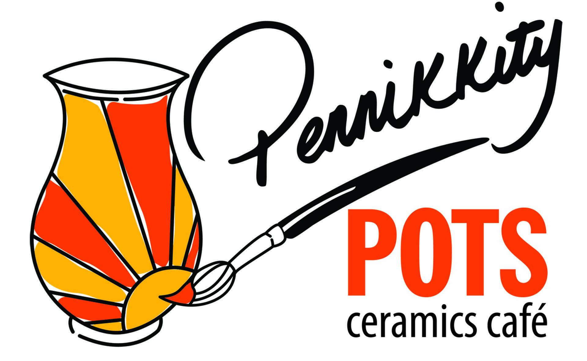 Pennikkity Pots Ceramics Cafe's logo