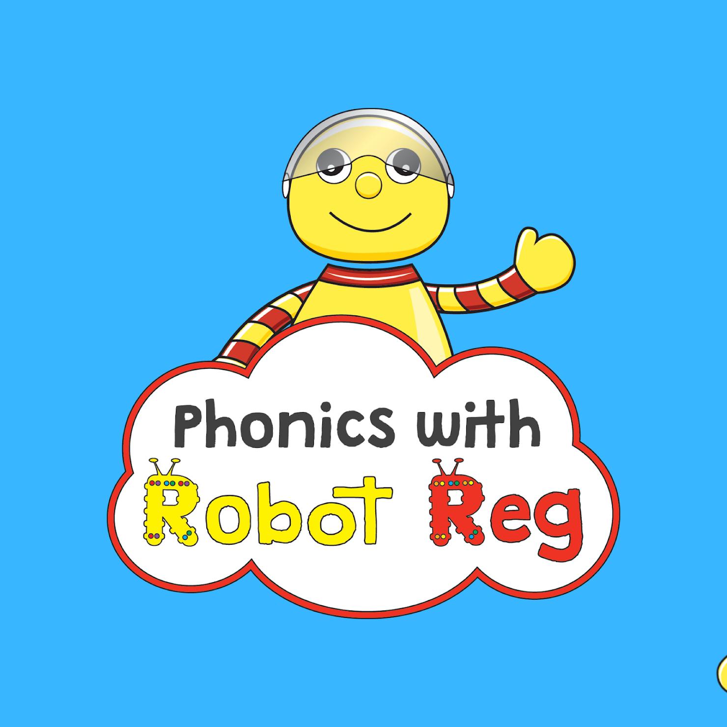 Phonics with Robot Reg Wimbledon Tooting and Mitcham's logo