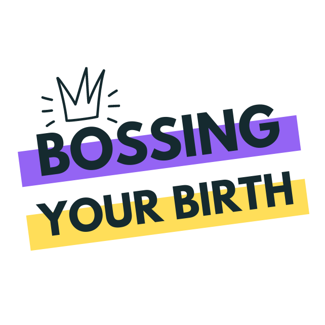 Bossing your birth - Hypnobirthing Milton Keynes and Northampton's logo