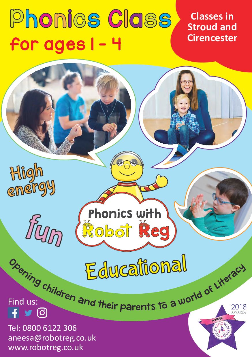 Phonics with Robot Reg Stroud and Cirencester's main image
